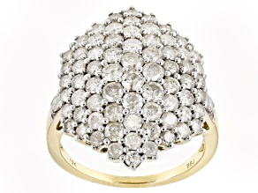 Diamond 10k Yellow Gold Ring 3.00ctw