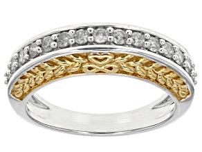 Diamond 10k Two-Tone Gold Ring .40ctw