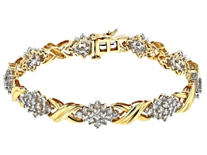Diamond 10k Yellow Gold Bracelet 5.00ctw