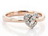 White Diamond 14k Rose Gold Over Sterling Silver Love Knot Ring 0.20ctw