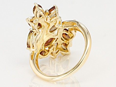 Brown andalusite 18k gold over silver ring 2.20ctw