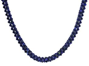 Blue lapis lazuli silver necklace