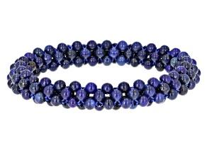 Blue lapis lazuli stretch bracelet