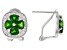 Green chrome diopside rhodium over silver earrings 2.40ctw