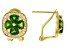 Green chrome diopside 18k gold over silver earrings 2.40ctw