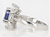 Blue kyanite rhodium over sterling silver ring 2.45ctw