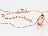 Pink kunzite 18k rose gold over sterling silver pendant with chain 1.74ctw