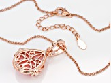 Pink opal 18k rose gold over silver enhancer with chain