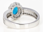 Blue neon apatite sterling silver ring 1.77ctw