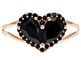Black Spinel 18k Rose Gold Over Silver Ring 2.06ctw