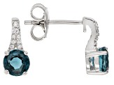 Blue kyanite rhodium over silver earrings 1.22ctw