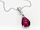 Pink tiger's eye rhodium over silver enhancer with chain