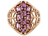Blush Color Garnet 18k Rose Gold Over Silver Ring 2.47ctw