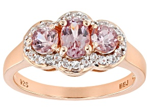 Color Shift Garnet 18k Rose Gold Over Sterling Silver Ring 1.31ctw