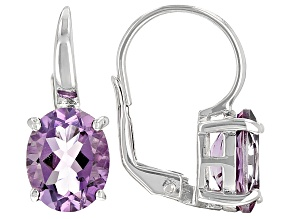 Lavender Amethyst Rhodium Over Silver Earrings 4.25ctw