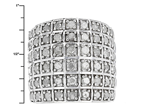White Diamond Rhodium Over Sterling Silver Ring 1.95ctw