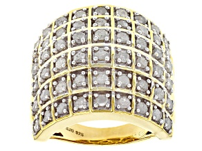 White Diamond 14k Yellow Gold Over Sterling Silver Ring 1.95ctw