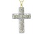 White Diamond 14k Yellow Gold Over Sterling Silver Pendant .95ctw