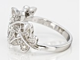 White Diamond Rhodium Over Sterling Silver Ring .24ctw