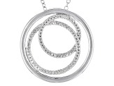 White Diamond Accent Rhodium Over Sterling Silver Pendant