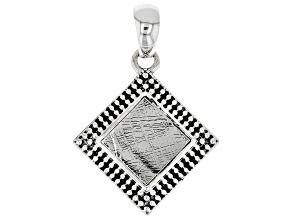 Meteorite Slice Sterling Silver Pendant