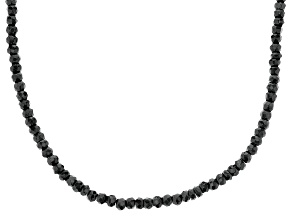 Black Onyx Sterling Silver Bead Necklace