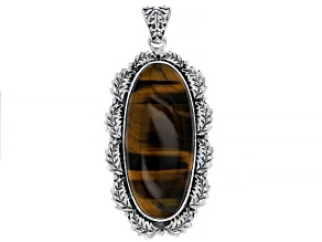 Tigers Eye Sterling Silver Pendant