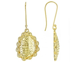 18K Gold Over Silver Dangle Earrings