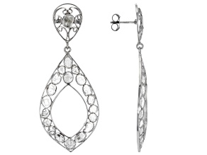 Polki Diamond Sterling Silver Earrings