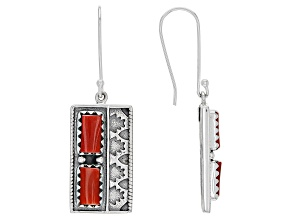 Bamboo Coral Sterling Silver Earring