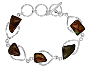 Ammolite Sterling Silver Bracelet