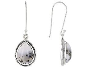 Multi Color Dendretic Opal Sterling Silver Earrings