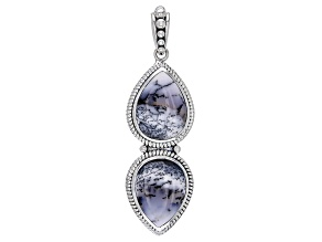 Multi Color Dendretic Opal Sterling Silver Pendant