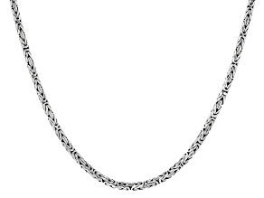 Sterling Silver 3mm Byzantine Necklace