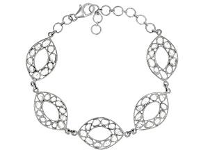 Polki Diamond Sterling Silver Bracelet