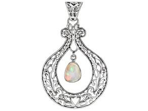White Ethiopian Opal Sterling Silver Pendant