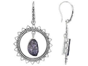 Rough Iolite Sterling Silver Earrings