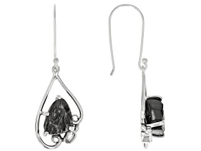 Round Shungite Sterling Silver Earrings 0.34ct