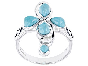Turquoise Sterling Silver Cross Ring