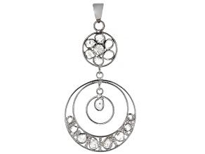 Polki Diamond Sterling Silver Pendant