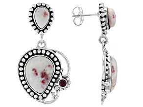 Multi-Color Rosalinda And Red Ruby Sterling Silver Earrings 0.14ctw