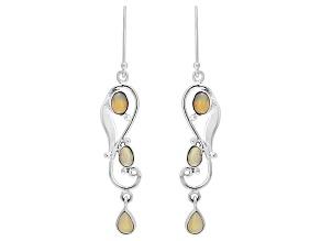 Ethiopian Opal Sterling Silver Earrings 2.56ctw