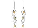 Ethiopian Opal Sterling Silver Earrings 2.56ctw