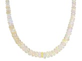 Ethiopian Opal Strand Sterling Silver Necklace 30.60ctw