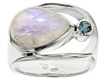 Picture of Rainbow Moonstone Sterling Silver Ring .14ctw