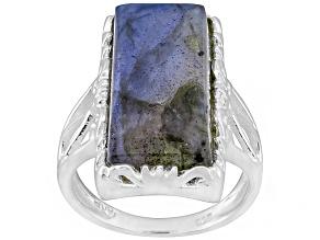 Gray Labradorite Silver Ring