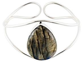 Blue labradorite sterling silver cuff bracelet