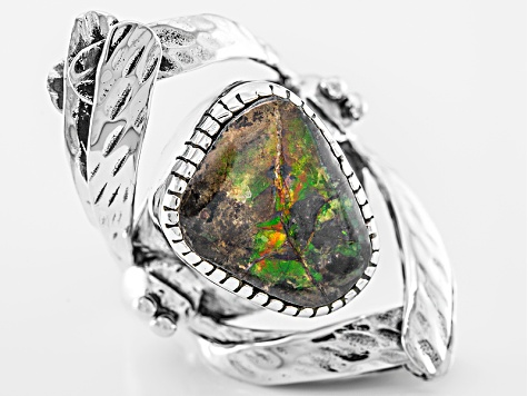 Multicolor Ammolite Doublet Sterling Silver Ring