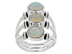 Ethiopian Opal Sterling Silver Ring. 1.76ctw