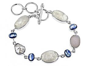 White Moonstone Sterling Silver Bracelet.
